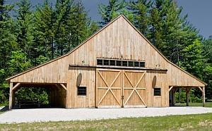 Wooden Pole Barn Building